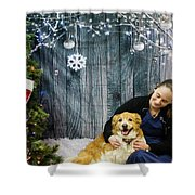 Ellie And Kim Shower Curtain