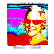 Ellie On Sunday Shower Curtain by Eikoni Images