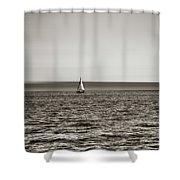 Elliott Bay Sailing Shower Curtain