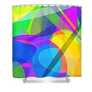 Ellipses 10 Shower Curtain