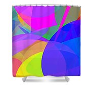 Ellipses 13 Shower Curtain