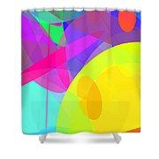Ellipses 14 Shower Curtain