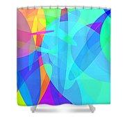 Ellipses 7 Shower Curtain