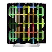 Ellipses Spheres Segmented Shower Curtain
