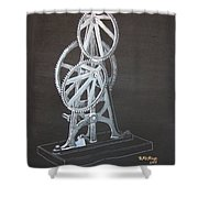 Elliptical Gears Shower Curtain