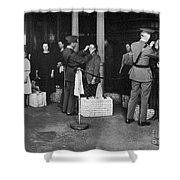 Ellis Island: Examination Shower Curtain