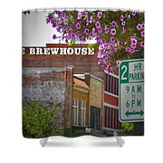 Elm Street Downtown Greensboro Shower Curtain