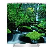 Elowah Falls 3 Columbia River Gorge National Scenic Area Oregon Shower Curtain