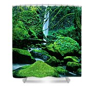 Elowah Falls 4 Columbia River Gorge National Scenic Area Oregon Shower Curtain