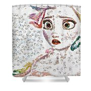 Elsa Art Pearlesqued In Fragments  Shower Curtain