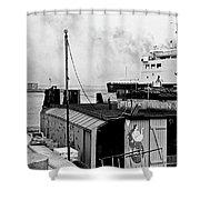 Elsinore Port Denmark Shower Curtain
