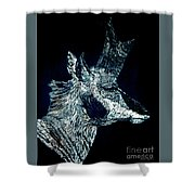 Elusive Visions Antelope Buck Shower Curtain
