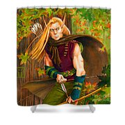 Elven Hunter Shower Curtain