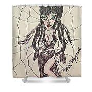 Elvira Mistress Of The Dark Shower Curtain