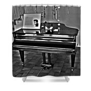 Elvis And The Black Piano ... Shower Curtain