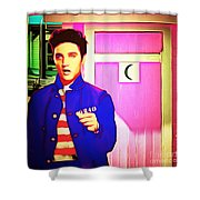 Elvis Has Left The House 20151225 Square Shower Curtain