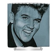 Elvis Is Back Shower Curtain