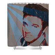 Elvis Pop Art Poster Shower Curtain