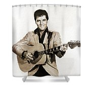 Elvis Presley By Mb Shower Curtain