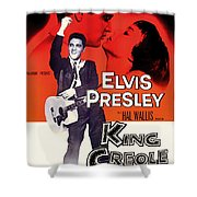 Elvis Presley In King Creole 1958 Shower Curtain