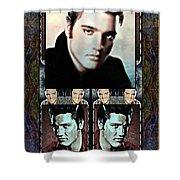 Elvis Presley Montage Shower Curtain