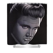 Elvis Presley Portrait Shower Curtain