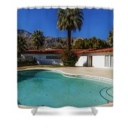 Elvis Presley's Palm Springs Home Shower Curtain