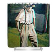 Elwood - 2d-3d Anaglyph Conversion Shower Curtain