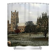 Ely Cambridgeshire, Uk.  Ely Cathedral  Shower Curtain