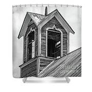 Ely Vermont Barn 1899 Barn Cupola Shower Curtain