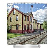 Ely Vermont Train Station Shower Curtain