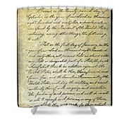 Emancipation Proc., P. 1 Shower Curtain by Granger