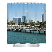 Embarcadero Marina Park South Pier Close Up Shower Curtain