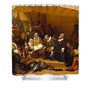Embarkation Of The Pilgrims Shower Curtain