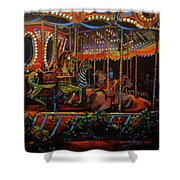 Embellished Carousel Shower Curtain