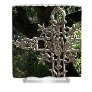 Embellished Cross Shower Curtain