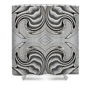 Embellishment In Concrete  4 Shower Curtain