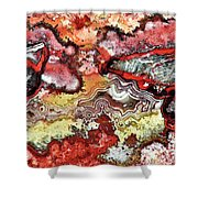 Ember Glow Shower Curtain