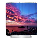 Ember Sunrise Shower Curtain