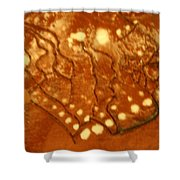 Embers - Tile Shower Curtain