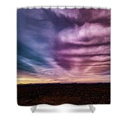 Embers Of A Fading Sunset Shower Curtain