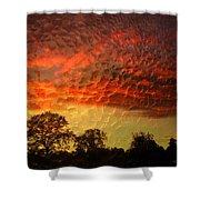 Embossed Sunrise Shower Curtain