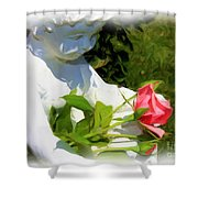 Embracing Angel Shower Curtain