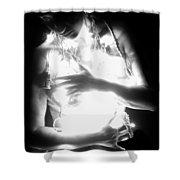 Embracing Light - Self Portrait Shower Curtain