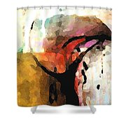 Embracing Secrets Panel One Of Two Shower Curtain