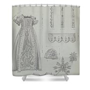 Embroidered Christening Robe & Mull Cap Shower Curtain
