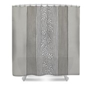 Embroidered Panel For Sleeve Shower Curtain