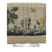 Embroidered Petticoat Border Shower Curtain