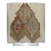 Embroidered Table Scarf Shower Curtain