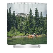 Emerald Bay Shower Curtain by Margaret Pitcher
